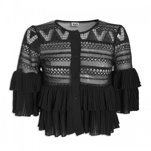 Black Embroidered Top -
