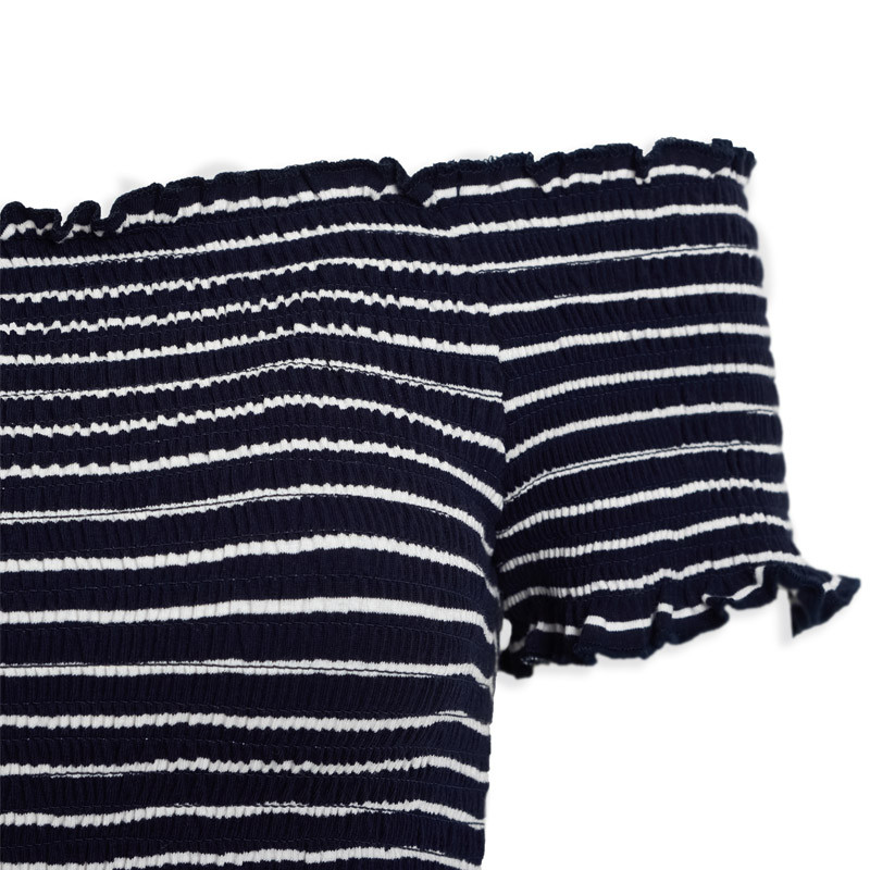Navy Sheering Playsuit -