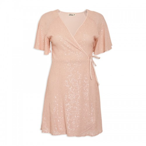 Blush Sequins Dress -