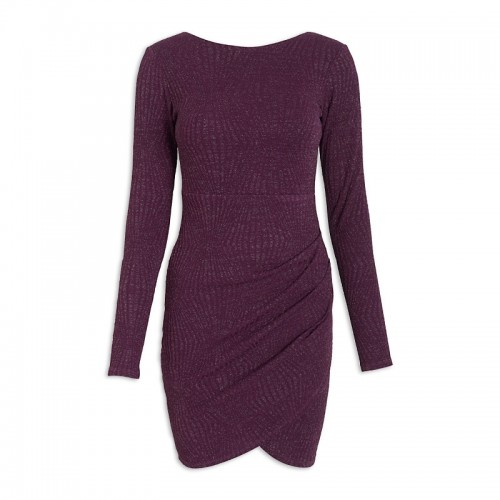 Purple Pleat Dress -