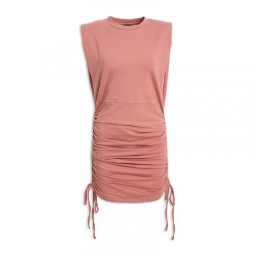 Pink Padded Dress -