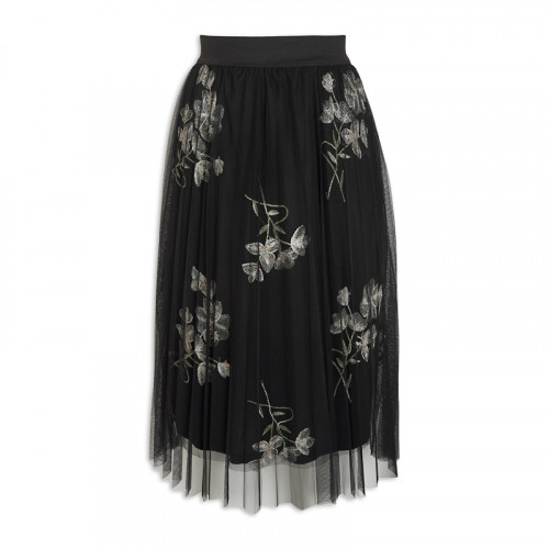 Embroidered Tulle Skirt -