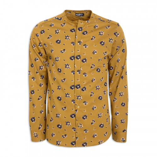 Mustard Flower Crew Neck Long Sleeve Shirt -