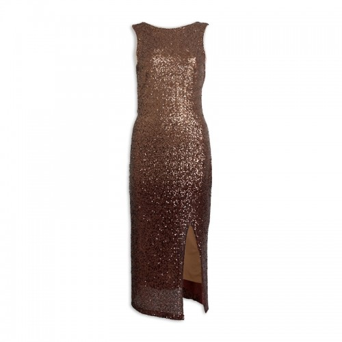 Gold-Coffee Sequins Dress -