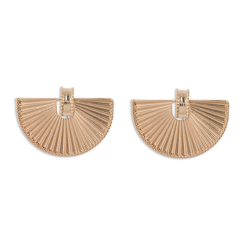 Soft Gold Fan Earrings -