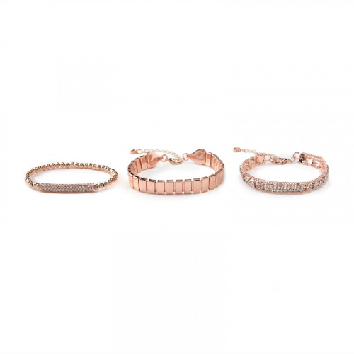 3Pack Rose Gold Stretchy -