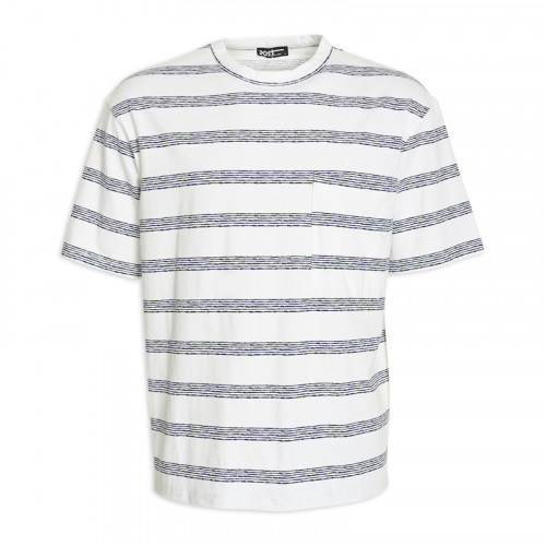 Stripe Pocket T- Shirt -