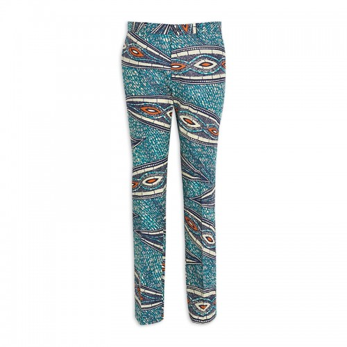 Blue African Print Trouser -