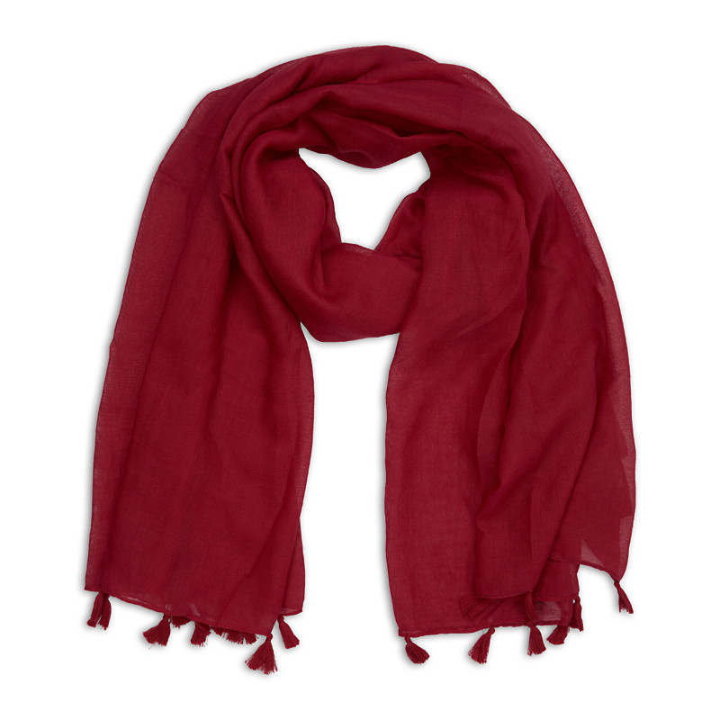 Burgundy Light Scarf -
