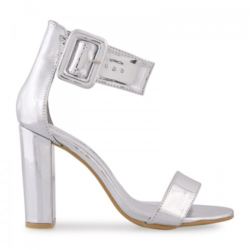 Silver Chrome Sandal -