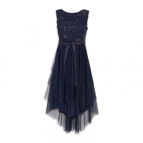 Navy Tulle Dress -
