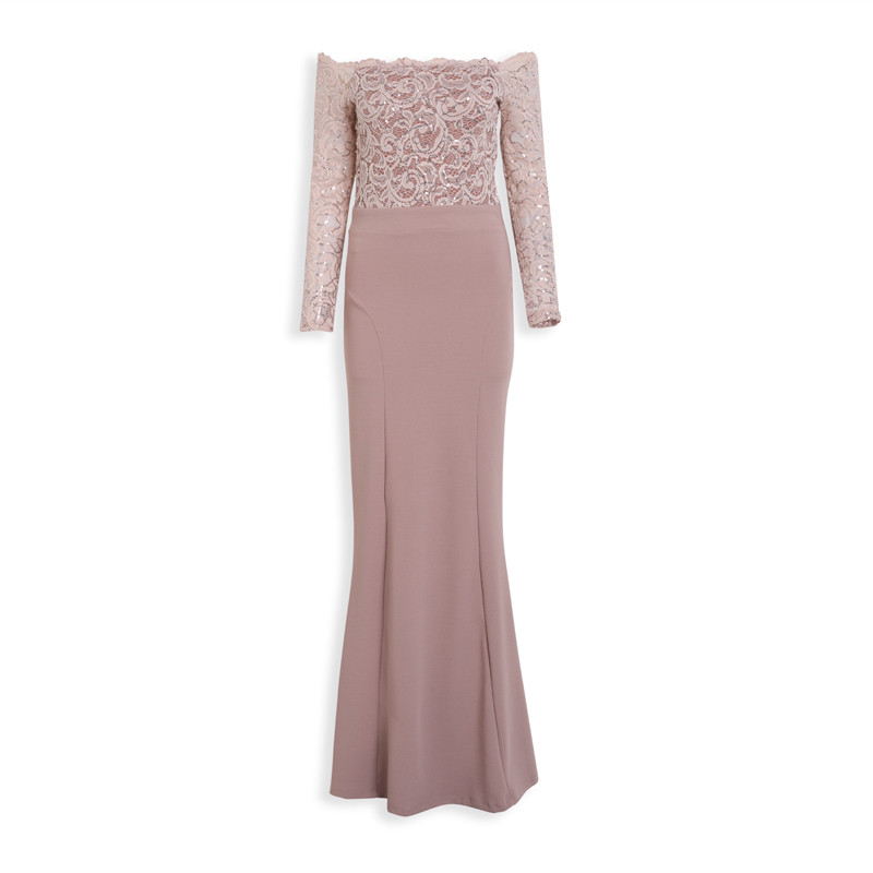 Mauve Sequin Dress -