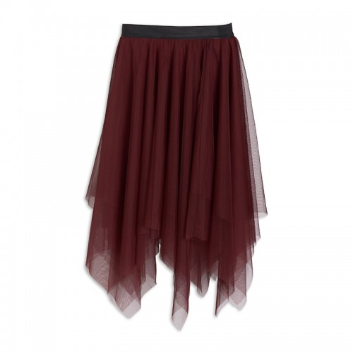 Wine Tulle Skirt -