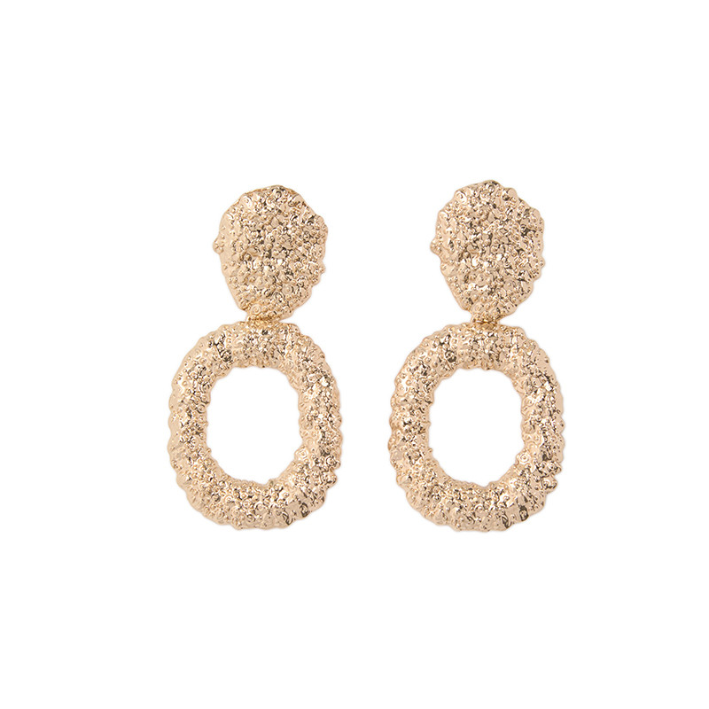 Soft Gold Hoop Earrings -