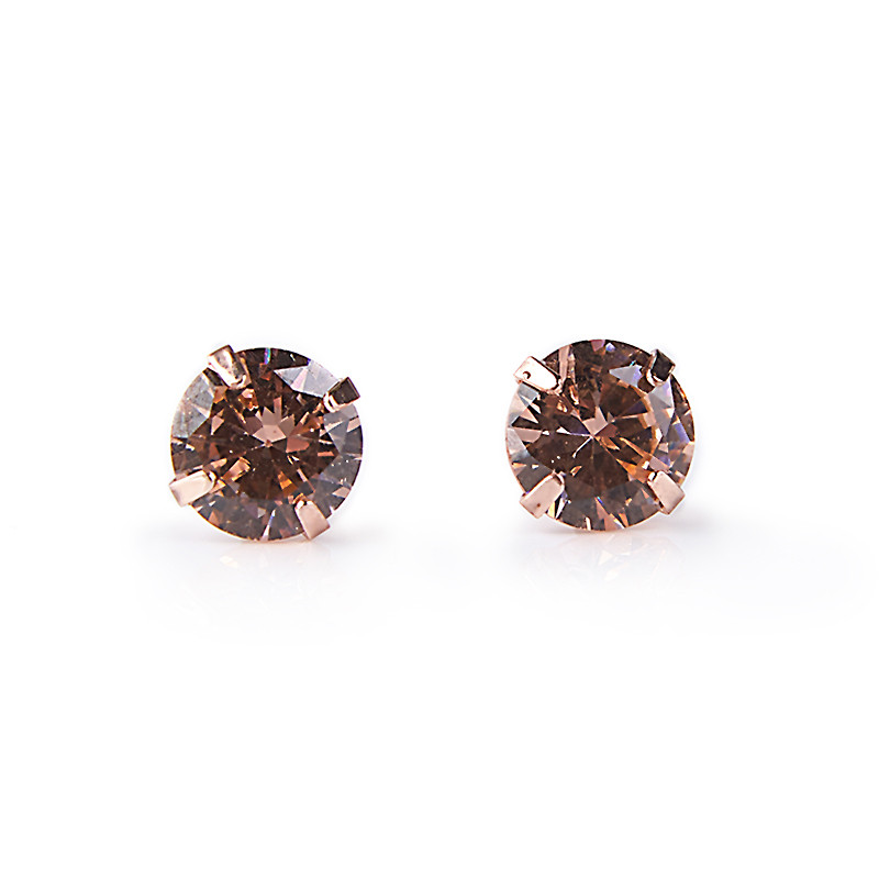 Pink Stud Earrings -