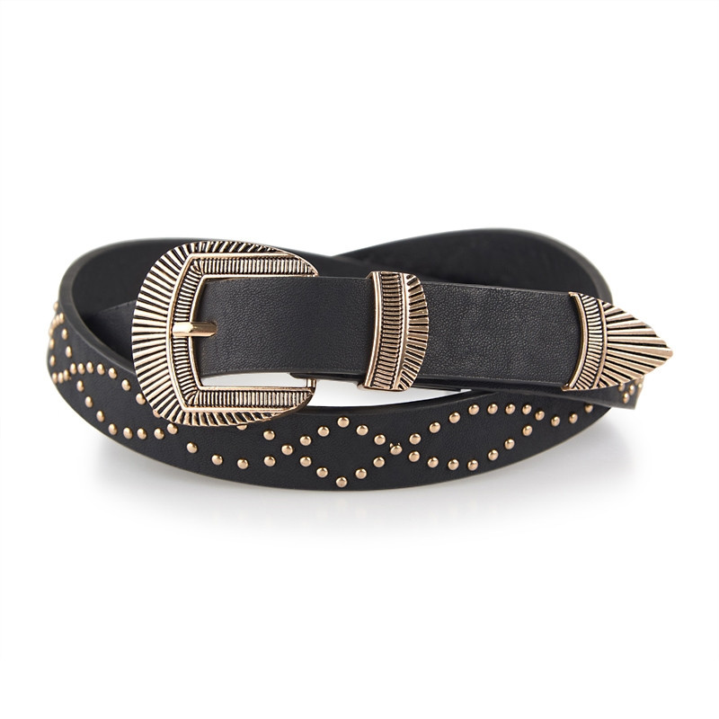 Black Shell Buckle Belt -