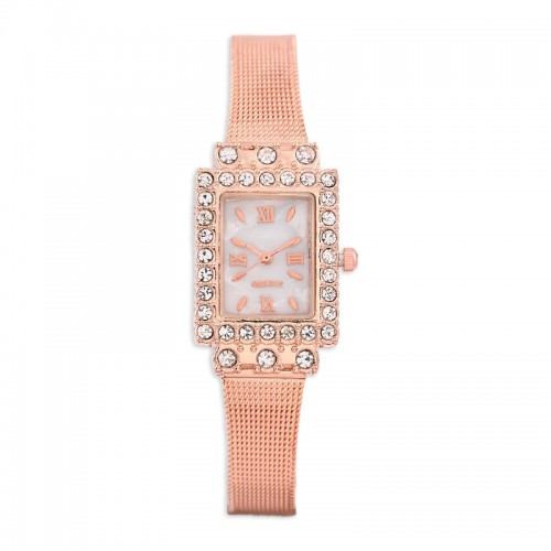 Rose Gold Diamante Watch -