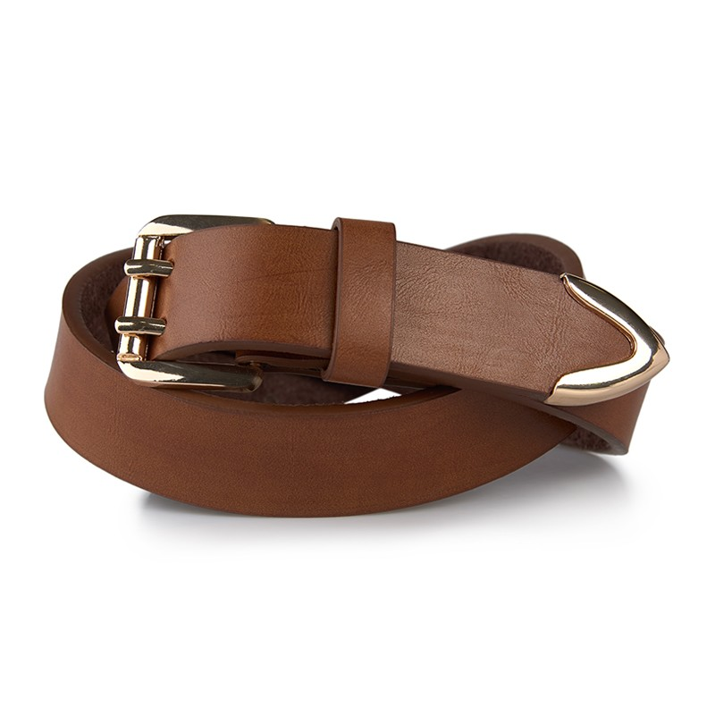 Tan Double Prong Belt -