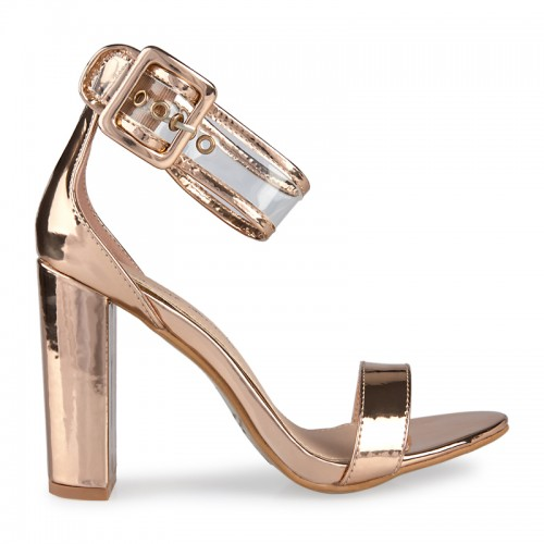 Rose Chrome Sandal -