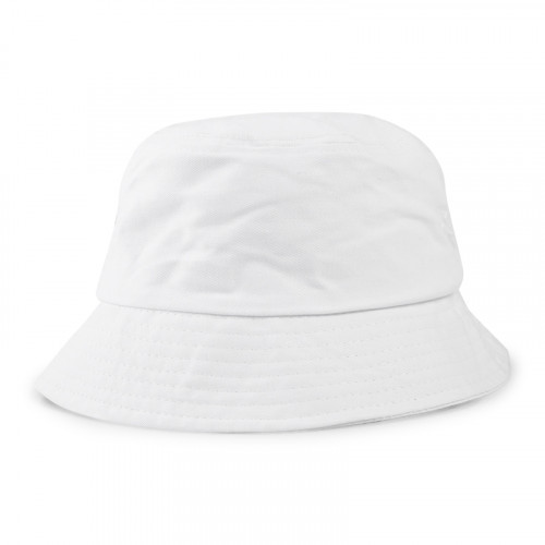 White Twill Bucket Hat -