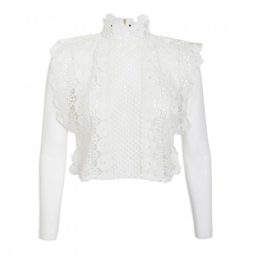 Ivory Lace Top -