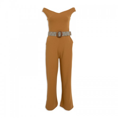 Ochre Jumpsuit + Belt -