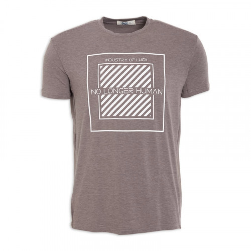 Brown Printed T - Shirt -