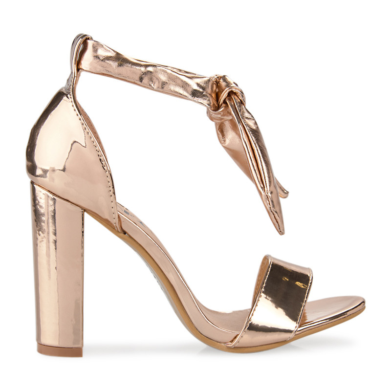 Rose Gold PU Sandal -