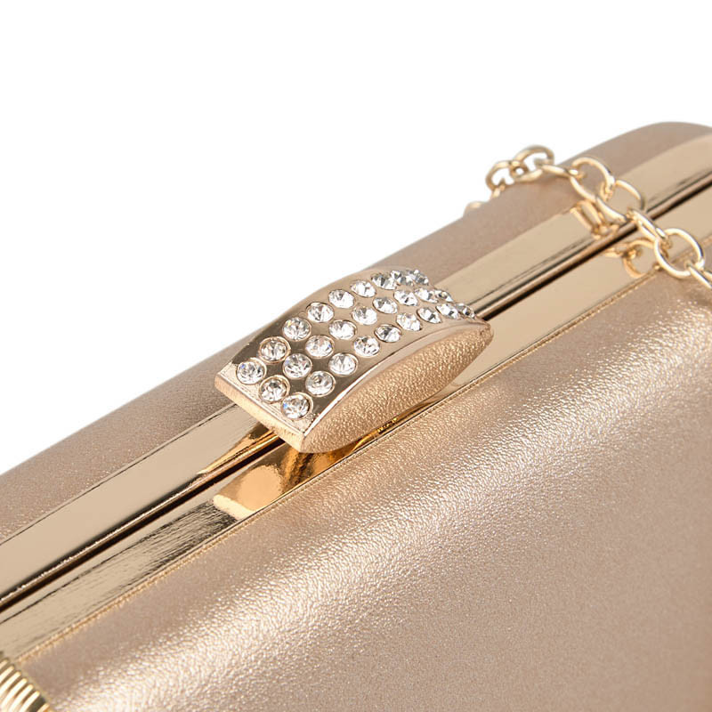 Gold Oval Trim Clutch -