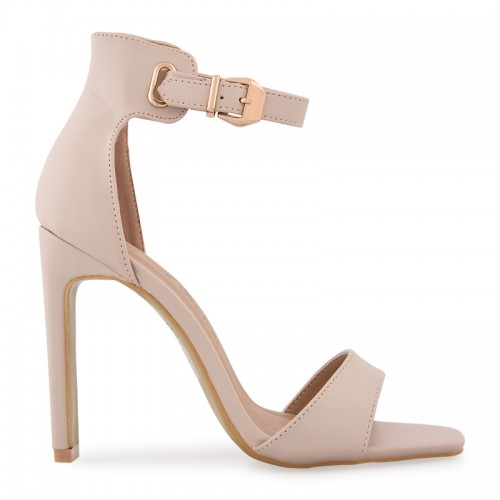 Nude Buckle Detail Sandal -
