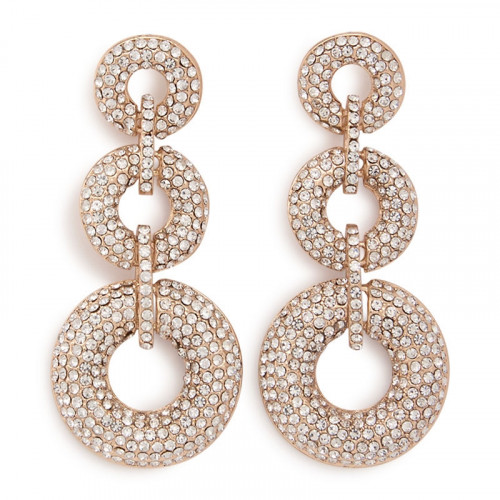 Soft Gold Ring Earrings -