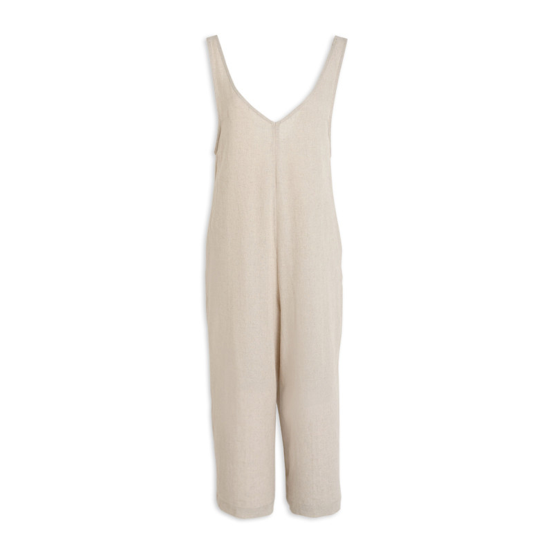 Natural Linen Jumpsuit -