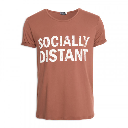 Rust Printed Crew Neck T-Shirt -