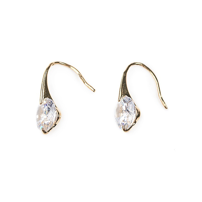 Crystal Drop Earrings -