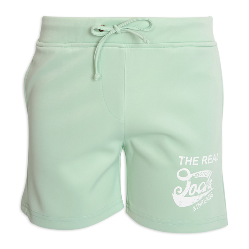 Mint Printed Jogger Short -