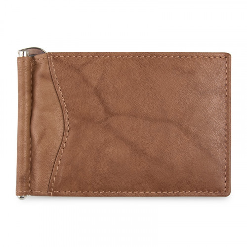 Tan Burnished Money Clip -