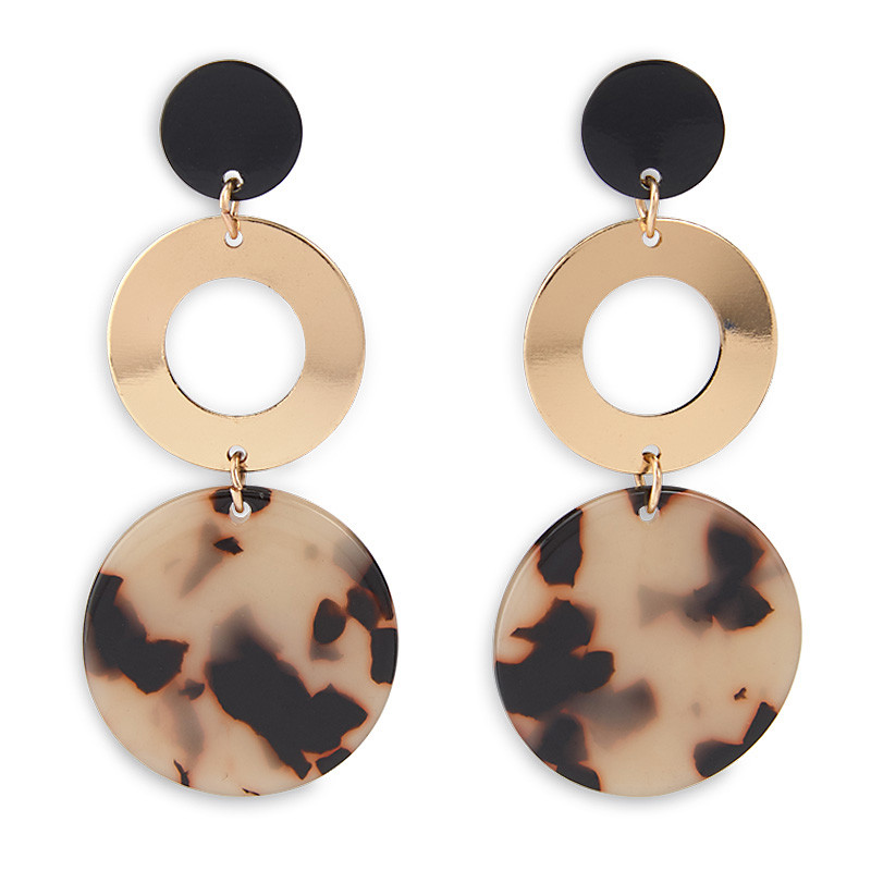 Animal Circle Earrings -