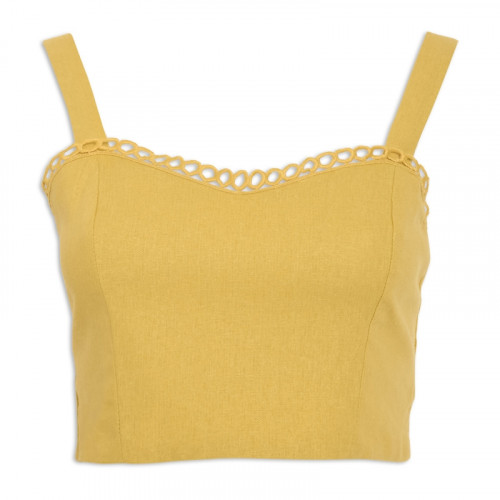 Yellow Linen Cami Top -