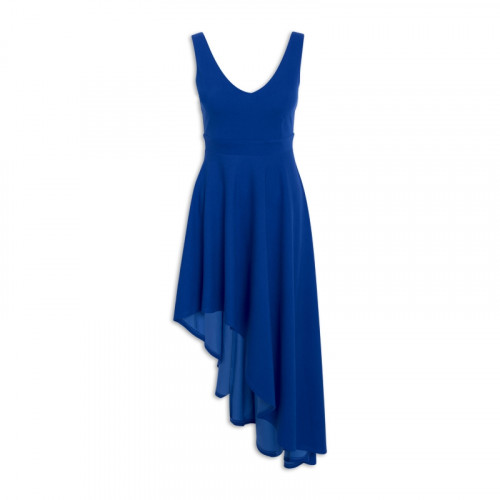 Blue V-Neck Dress -