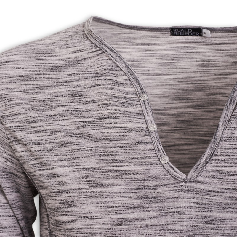 Grey Henley Top -