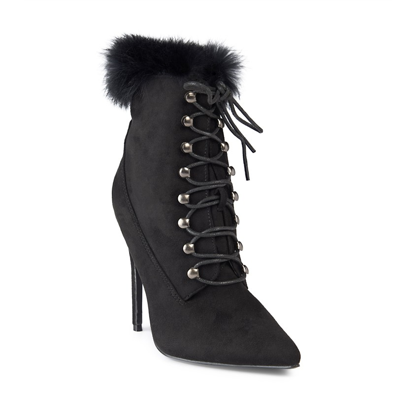 Black Suede Boot -