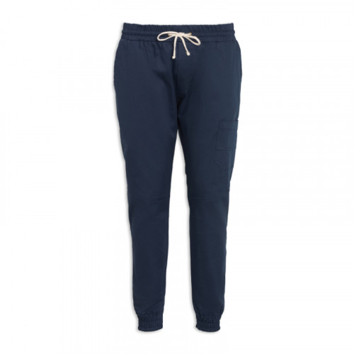 Navy Elasticated Cuff Trouser -