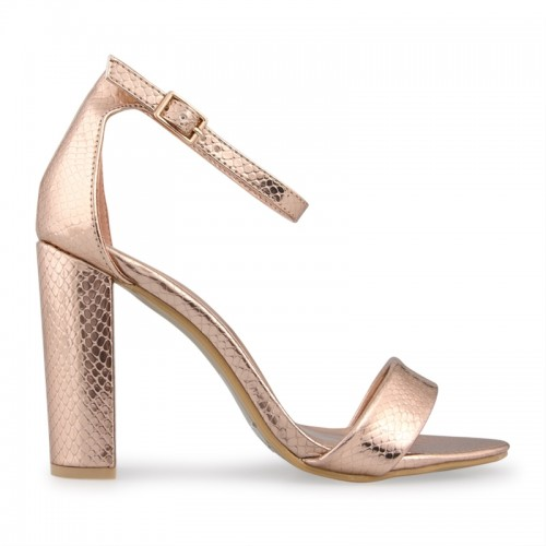 Rose Gold Snake Sandal -