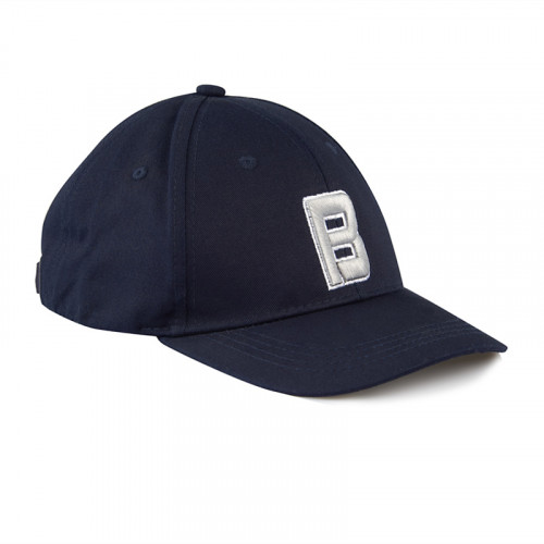 Navy B-cap with Embroidery -