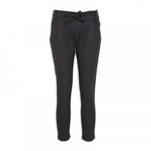 Black Belted Skinny Trousers -
