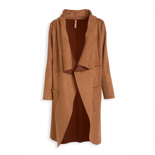 Walnut Suede Coat -