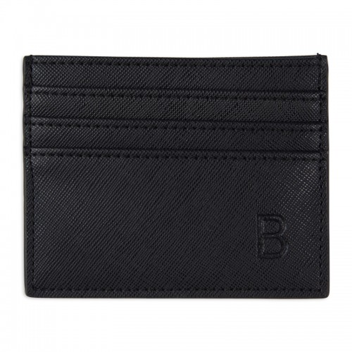 Black Textured Cardholder -