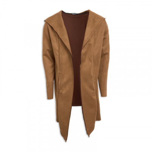 Brown Suede Cardigan -