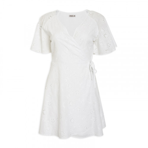 Ivory Anglaise Wrap Dress -