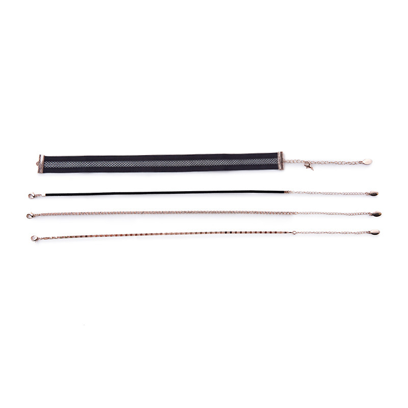 Black 4Pack Choker Set -